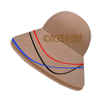 hat blocks australia Short Dome & Oval Steep Brim with trim lines